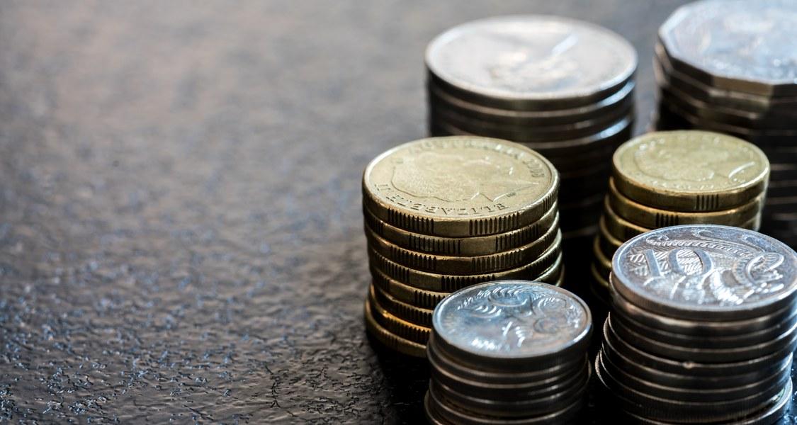 Stapel aus Münzen