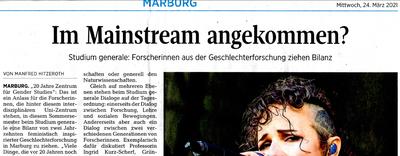 Ausschnitt eines Artikels aus der Oberhessischen Presse vom 24. März 2021. Zu sehen ist unter anderem der Titel