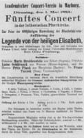 Konzertplakat von 1883