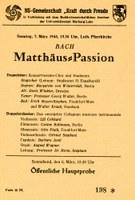 Konzertplakat von 1943