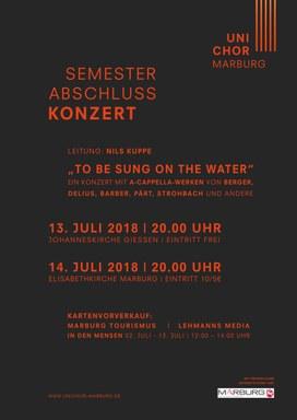 Konzertplakat des Sommersemester 2018