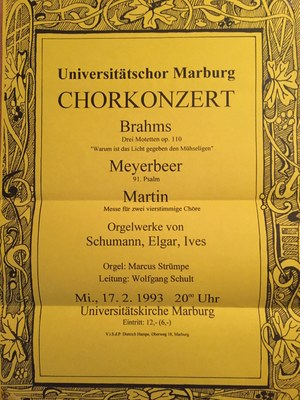 1992 Wintersemester Konzertplakat