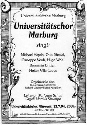 1994 Sommersemester Konzertplakat