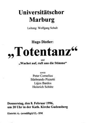 1995 Wintersemester Konzertplakat