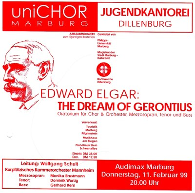 1998 Wintersemester Konzertplakat