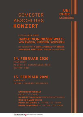 2019 Wintersemester Konzertplakat