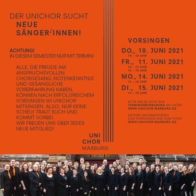 2021 Sommersemester Vorsingplakat