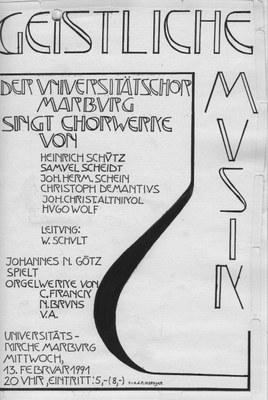 1990 Wintersemester Konzertplakat