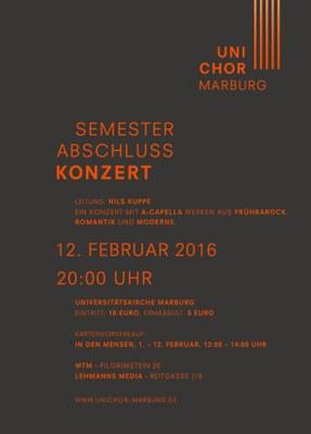 2015 Wintersemester Konzertplakat