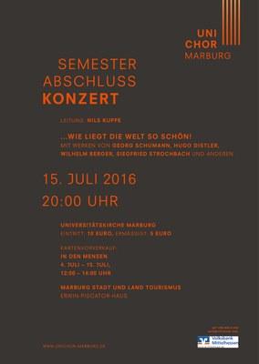 2016 Sommersemester Konzertplakat