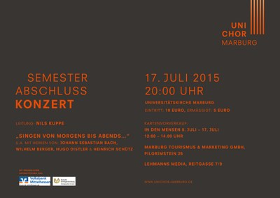 2015 Sommersemester Konzertplakat