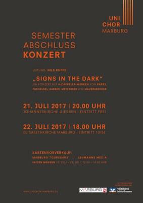 2017 Sommersemester Konzertplakat
