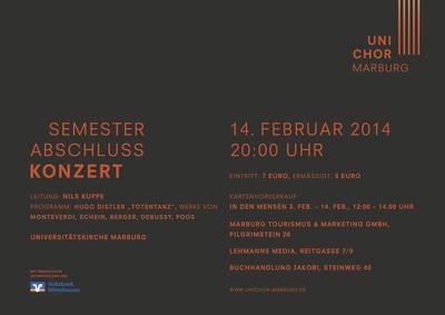 2013 Wintersemester Konzertplakat