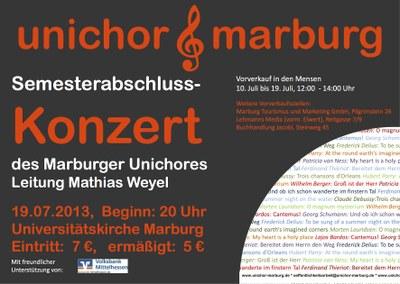 2013 Sommersemester Konzertplakat
