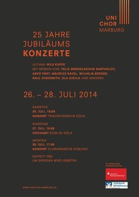 2014 Sommersemester Konzertplakat