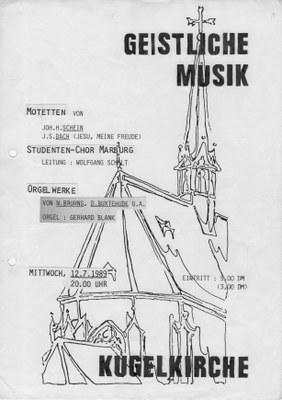 1989 Sommersemester Konzertplakat