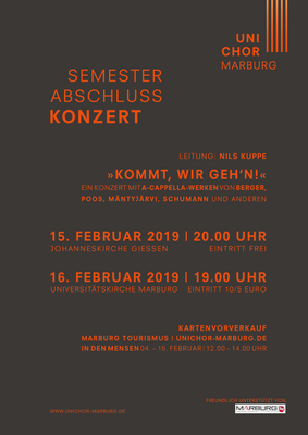 2018 Wintersemester Konzertplakat