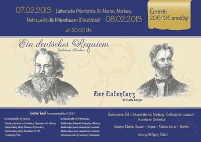 2012 Wintersemester Konzertplakat