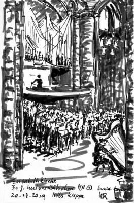 Zeichnung des Jubiläumskonzerts