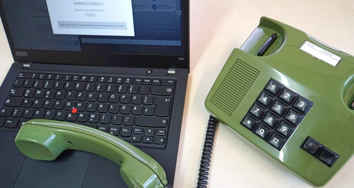 Webkonferenz mit Telefoneinwahl