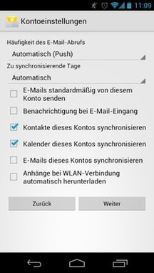 Anleitung - Android - Schritt 5 Einstellungen