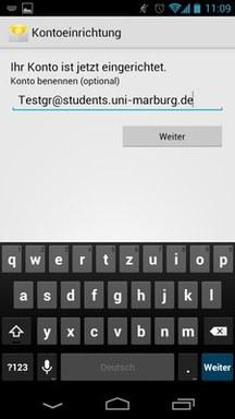 Anleitung - Android - Schritt 6 Benennung