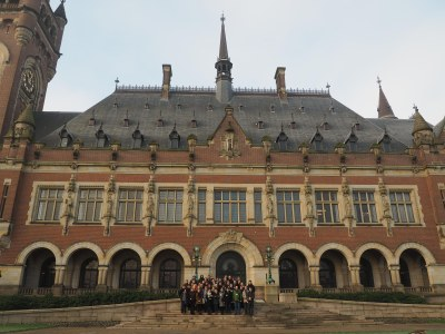 Friedenspalast in Den Haag; Sitz des ICJ