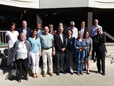 """Teilnehmerinnen und Teilnehmer der vom ICWC organisierten Konferenz """"Indians in War and Revolution in the Asia-Pacific Region"""" in Canberra/Australien"""