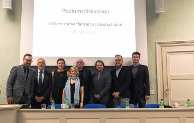 v.l.n.r.: Christian Ritscher, Thomas Sagebiel, Natalie von Wistinghausen, Prof. Stefanie Bock, Dr. Christoph Koller, Paco Pawolleck, Alexander Benz, Henrik von Richthofen