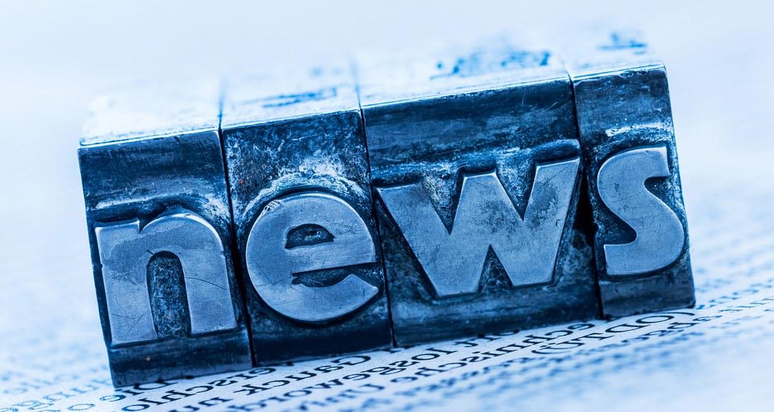 """Das Wort """"news"""" aus Setzzeichen"""