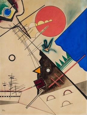 Wassily Kandinsky, Entstehende Verbindung, 1923, Kunstmuseum Marburg.jpg