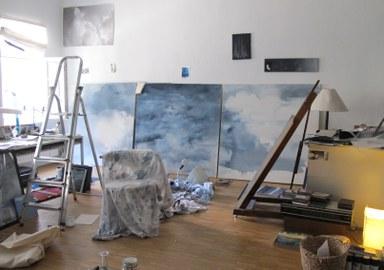 Ein Blick in das Atelier der Künstlerin Doris Conrads