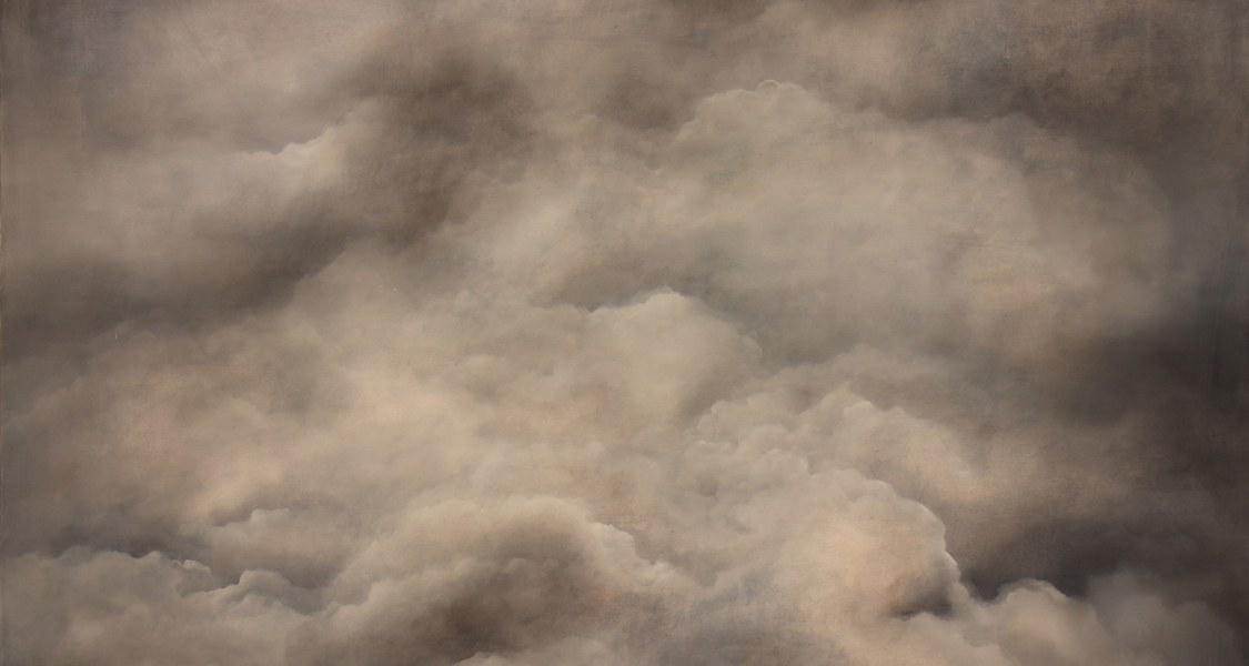 Gewitterhimmel mit aufgetürmten Wolken