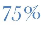 75 Prozent