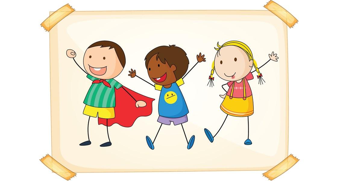 Zeichnung dreier Kinder