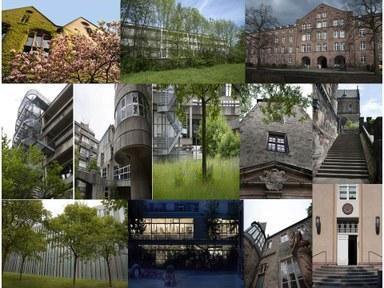 Collage der Berteichsbibliotheken