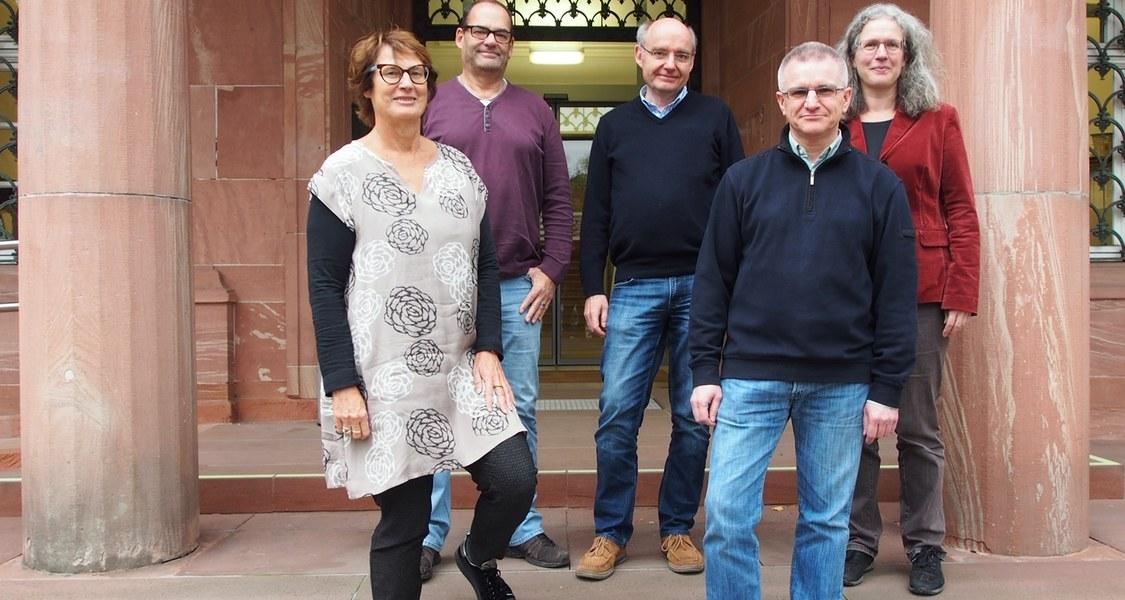 Mitarbeiter v.l.n.r.: Dr. Silke Lorch-Göllner, Bernd Scholl, Dr. Christoph Franke, Dr. Carsten Lind und Archivleiterin Dr. Katharina Schaal
