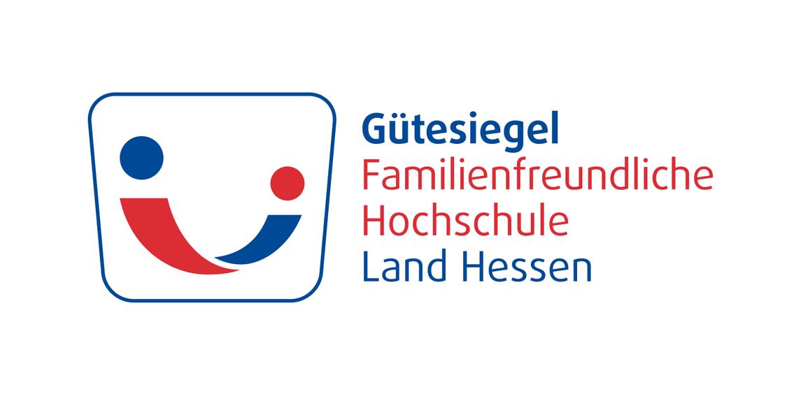 """Logo Gütesiegel """"Familienfreundliche Hochschule Land Hessen"""""""