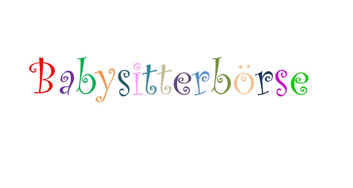 Schriftzug Babysitterbörse in bunten Lettern.