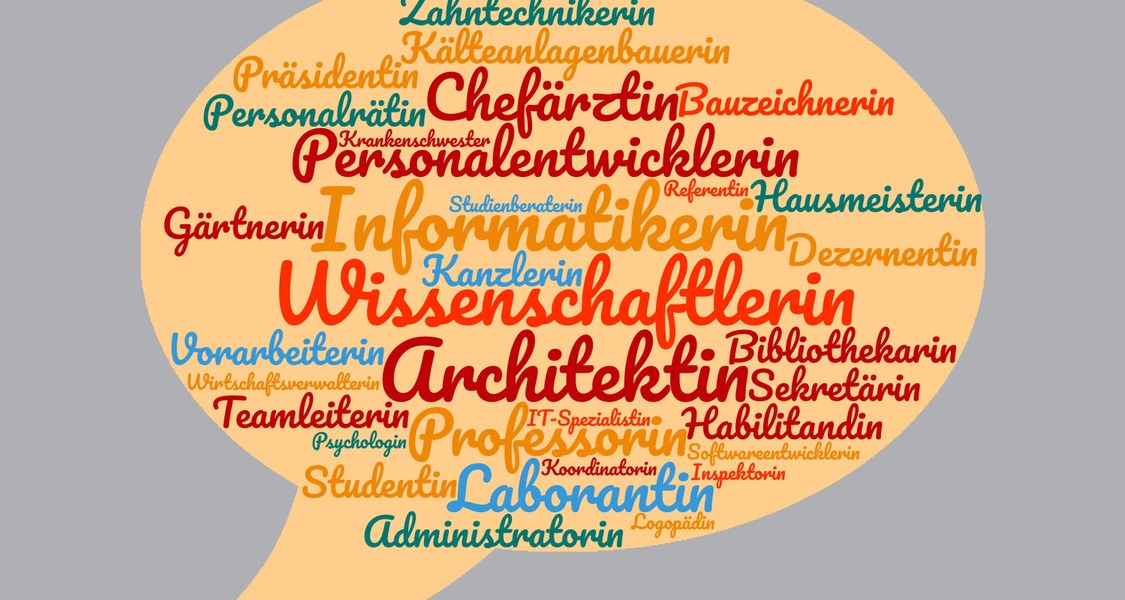 Wordcloud im generischen Femininum