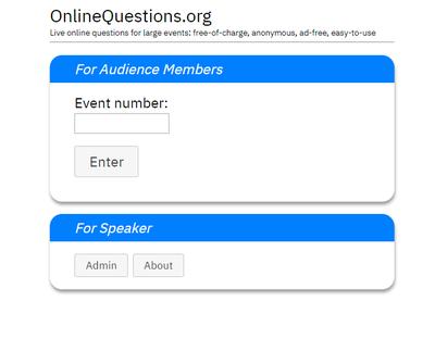 Dieses Bild zeigt die Startseite der Webseite onlinequestions.org