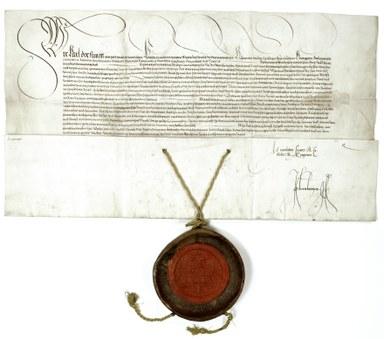Urkunde des kaiserlichen Privilegs der Philipps-Universität