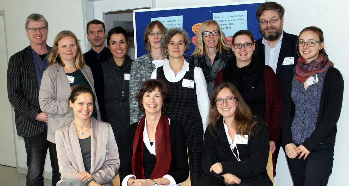 """Gruppenfoto Workshop """"Herausforderungen in der professionsbezogenen Beratung"""" , 14.12.2017"""