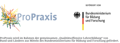 """ProPraxis wird im Rahmen der gemeinsamen """"Qualitätsoffensive Lehrerbildung""""von Bund und Ländern aus Mitteln des Bundesministeriums für Bildung und Forschung gefördert."""