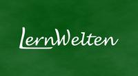 LernWelten-Schriftzug auf Tafel (ohne Rahmen)