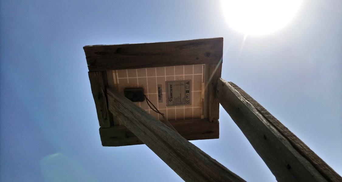 A Solar Panel in the Sun