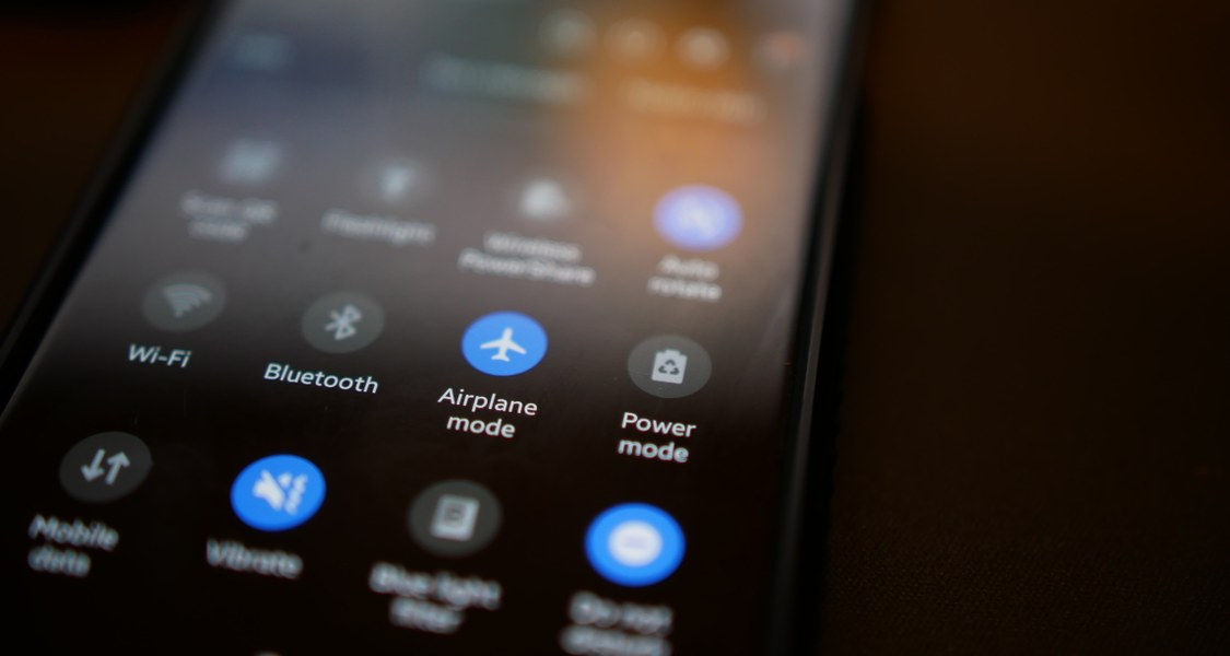 Closeup of an android phone's screen