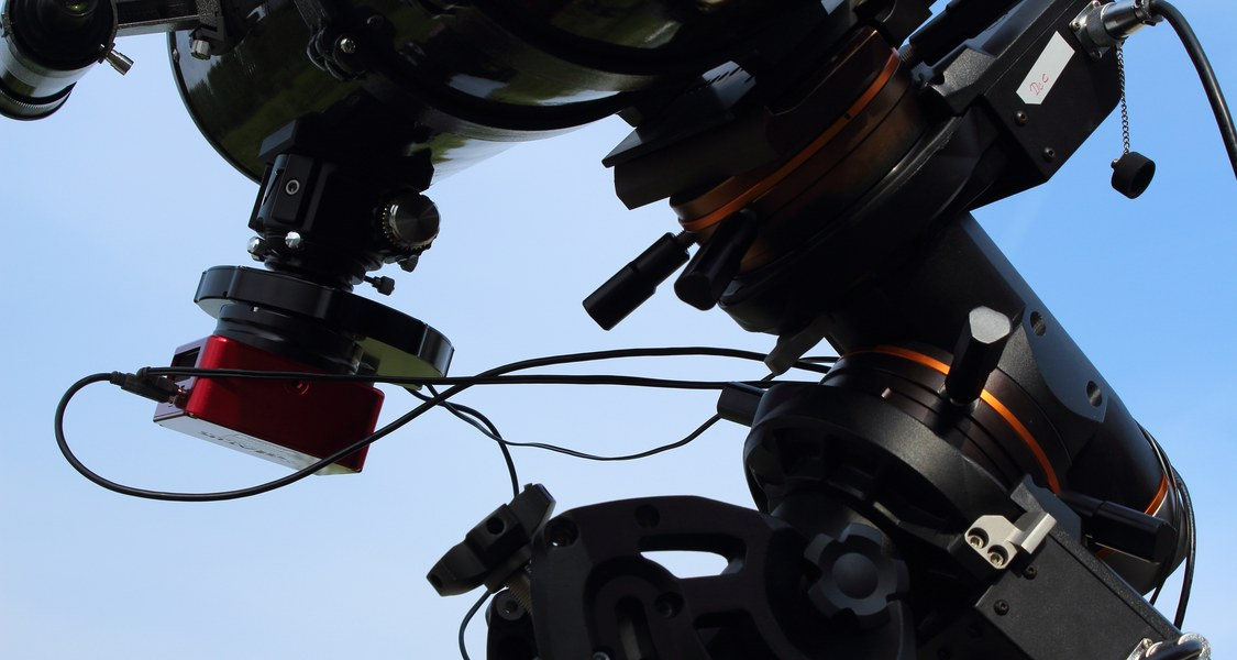 Part of the photometry setup of the astronomy group