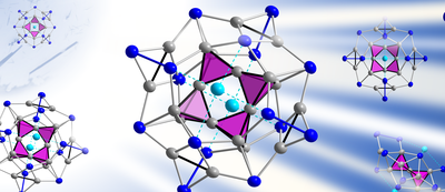 Here you see a picture of the cluster anion [K2Zn20Bi16]6-