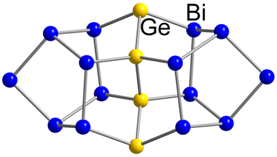Here, you see the molecular structure of (Ge4Bi14)4−.